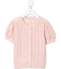 tutu du monde faye open-knit cardigan - pink