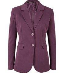 blazer sciancrato in jersey di cotone (viola) - bpc bonprix collection
