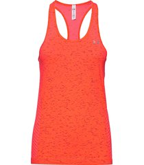 ua seamless melange tank t-shirts & tops sleeveless orange under armour