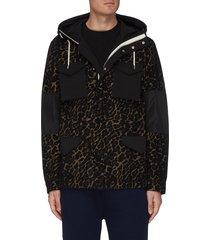 'warren' leopard print rain jacket