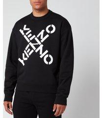 kenzo men's sport big x sweatshirt - black - xxl
