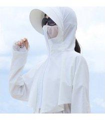 señoras verano nuevo sol extraíble sombrero-blanco