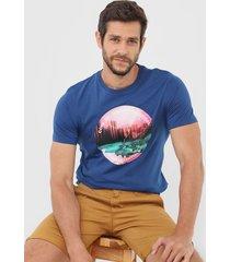camiseta jack & jones urban azul
