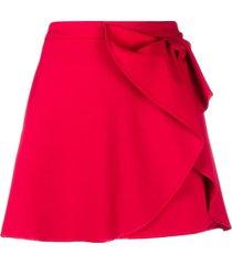 redvalentino bow-detail mini skirt