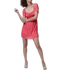 women's french connection leo memphis fit & flare dress, size 12 - red