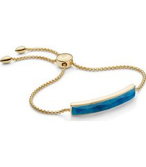 gold baja facet bracelet blue quartz