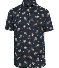 ben sherman men's floral-print short-sleeve shirt - ecru - size xl