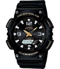reloj casio aq-s810w-1b anadigi 100% original-negro