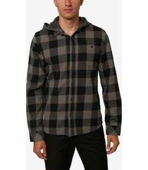 o'neill men's redmond hood woven shirt