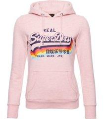 superdry women's vintage-like logo overhead hoodie