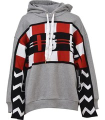 stella mccartney grey patchwork hoodie