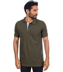 camiseta tipo polo verde militar hamer fondo entero
