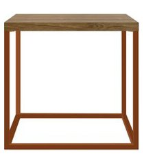 mesa cube m vermont/cobre artesano móveis marrom/cobre