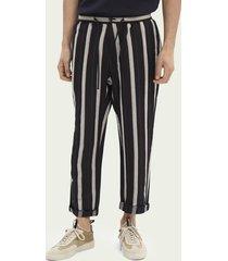 scotch & soda fave striped linen-blend trousers