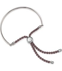 fiji friendship bracelet, sterling silver