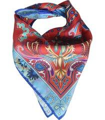 etro paisley detail print scarf