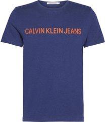 institutional logo  slim t-shirt azul calvin klein