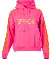pink currency logo hoodie