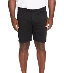 men's big & tall johnny bigg marshall stretch five-pocket shorts, size 46 - black