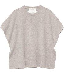 alma cashmere vest in grey