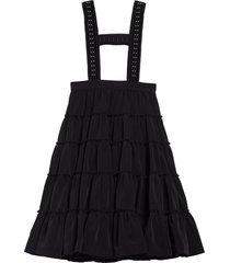 women's noir kei ninomiya suspender tiered midi skirt