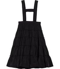 women's noir kei ninomiya suspender tiered midi skirt