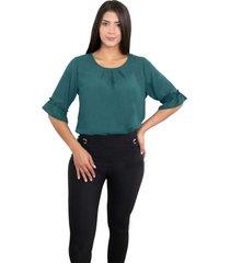 blusa para mujer, manga corta con bolero