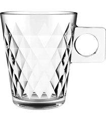 jogo de xícaras dynasty diamond coffee time 80ml com 6 peças