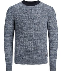 jack & jones men's long sleeve organic knit sweater