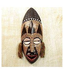 african wood mask, 'calm and patient' (ghana)