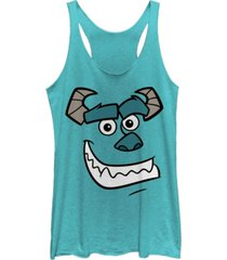fifth sun disney pixar women's monsters inc. sulley face tri-blend tank top
