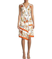 janele floral asymmetric dress