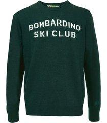 bombardino ski club green mans sweater