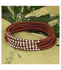 braided wrap bracelet, 'karen honey chic' (thailand)