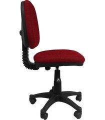 silla oficina  platina media  rojo tomate ref:2045