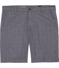 men's ag wanderer slim fit linen blend shorts, size 38 - grey