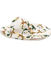 adriana degreas printed wide brim hat - multicolour