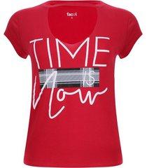 camiseta cuello choker color rojo, talla 6