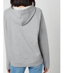 see by chloéwomen's pinapple print hoodie - radient grey - l