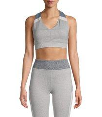 splendid women's sports bra - heather grey - size m