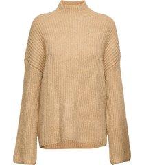 vigrippi knit top/l stickad tröja beige vila