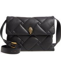 kurt geiger london large kensington quilted leather shoulder bag - black