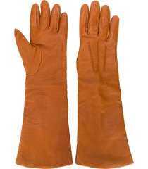 p.a.r.o.s.h. three-quarter length gloves - orange