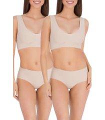 belly bandit(r) anti panti(r) leak-resistant 2-pack panties, size x-large in nude at nordstrom