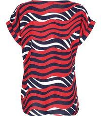 blus alba moda marinblå::röd::offwhite