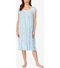 eileen west floral print knit waltz nightgown