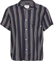 chine seal shirt overhemd met korte mouwen zwart woodbird