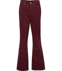pantaloni a zampa di velluto elasticizzato con cinta comoda (rosso) - bpc bonprix collection
