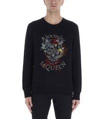 alexander mcqueen botanical skull sweatshirt