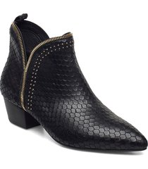 boot 4,5 cm shoes boots ankle boots ankle boot - heel svart sofie schnoor